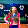 Crazy Dancer Look Superman Croptop + pink Adidas Sneaker & Jacket + blue pants & hat with Ears  | Style my Fashion