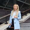 Baby blue coat | Style my Fashion