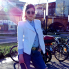 Denim Jeans Used Look / chic Blazer / nude bag & shoes / MK belt | Style my Fashion