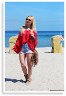 Red boho blouse | Style my Fashion
