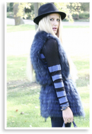 Blue Fur Vest | Style my Fashion