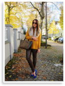 Brown Leather & Blue Pumps | Style my Fashion