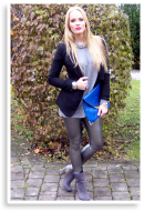 silver leggins with snake boots | Style my Fashion