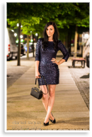Blue sparkling sequin dress | Style my Fashion