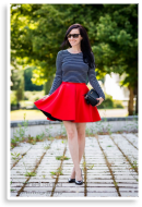 Red scuba skirt | Style my Fashion