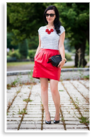Red leather skirt | Style my Fashion