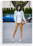 Camel jeans and whites    Style my Fashion