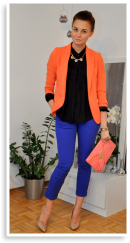 Orange & Blue | Style my Fashion