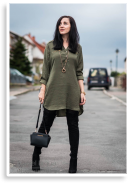 Khaki dress | Style my Fashion