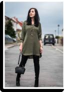 Khaki dress | Style my Fashion