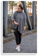 Grauer Sweater, Lederleggins, Adidas Superstars | Style my Fashion
