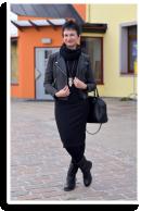 Strickkleid, Lederjacke und Eule! | Style my Fashion