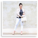 White Denim, Heels and Backpacks | Style my Fashion