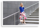 FLORAL SKIRT & NUDE PUMPS | Style my World