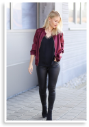 BURGUNDY MEETS LEATHER | Style my Fashion