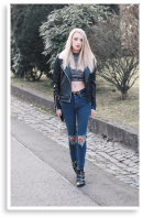Leather & Fishnet Tights | Style my Fashion