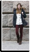 burgundy leo | Style my Fashion