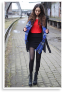 Girl with the blue scarf   Style my Fashion