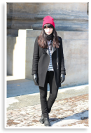stripes and red beanie  | Style my Fashion