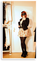 Creatio: Wasserfallblazer & Rosenmuster   Style my Fashion