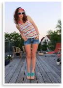 Outfit: Aztek Shirt + Denim Shorts | Style my Fashion