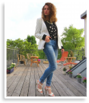 Outfit: Dots & Blue Jeans | Style my Fashion