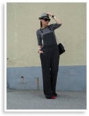 Polka dot smart dungarees | Style my Fashion