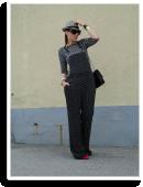 Polka dot smart dungarees | Style my Fashion