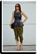 Camo&Black Peplum | Style my Fashion