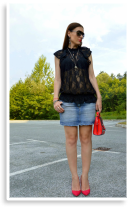 Black lace ... keep it casual | Style my Fashion