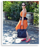 Orange dress & peplum belt | Style my Fashion
