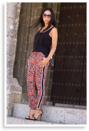 SPORTY CHIC STYLE WITH LEOPARD PRINT PANTS | Style my Fashion