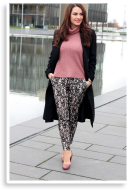 rosé wool with black lace  | Style my Fashion