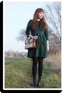 Emerald green dress | Style my Fashion