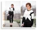 Black & white with Colorovo bag | Style my Fashion