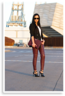Burgundy Leather Sophistication | Style my Fashion