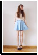 Light blue skirt | Style my Fashion