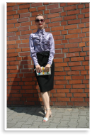 Vintage Silk Blouse & Black Pencil Skirt | Style my Fashion