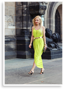 Lime dress | Style my Fashion