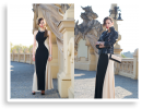 two toned long dress | Style my Fashion