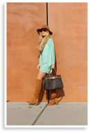 Leather boots & knitted kimono top   Style my Fashion
