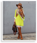 Lime dress & brown boots   Style my Fashion