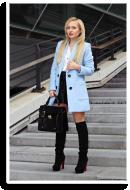 Baby blue coat | Style my Fashion