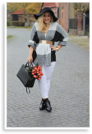 White Look & Autumn Flowers | Style my Fashion