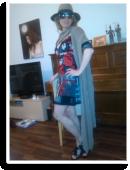 Partykleid mit schwarzer Spitze... Unikat von Kassis | Style my Fashion