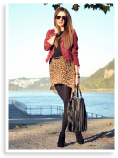 Leopard meets burgundy | Style my Fashion